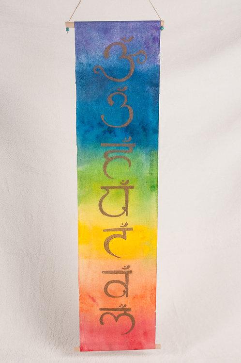 Sanskrit Chakra Watercolor Banner