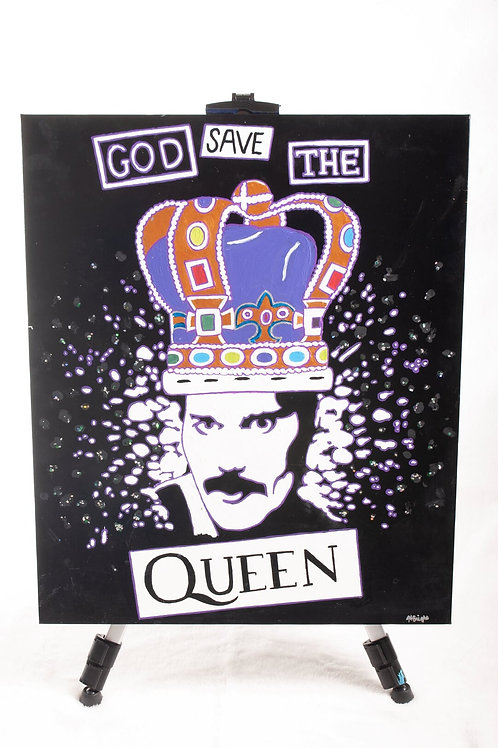 One of a kind Queen tribute painting