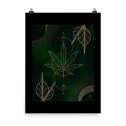 Cannabis Mandala Design