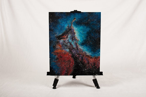 Nebula acrylic painting on canvas