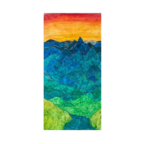 Original Colorado 14er Diagram watercolor painting