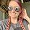 Thumbnail: Wooden Snake Dangle Earrings