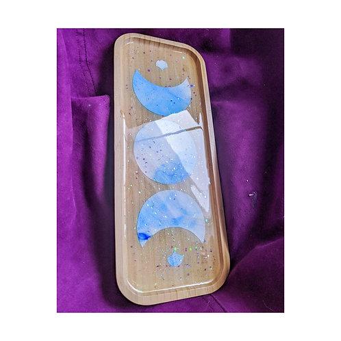 Ink Moon Phase Bamboo Tray