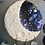 Thumbnail: Moon Phase Clay and Ink Dreamcatcher Sculpture with Crystals