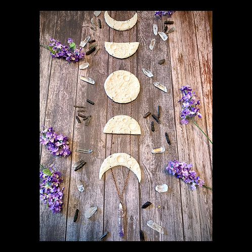 Moon Phase Sculpture Wall Hanging