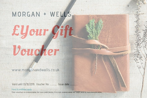 Morgan + Wells Gift Voucher