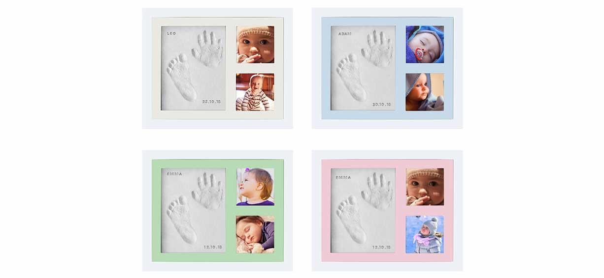 Kubai White Baby Hand & Footprint photo frame kit