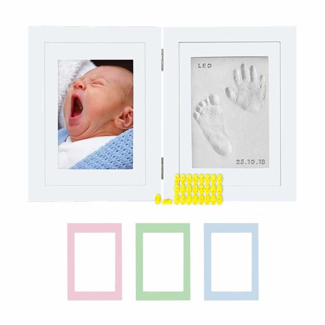 Kubai Foldable Baby Hand & Footprint photo frame kit