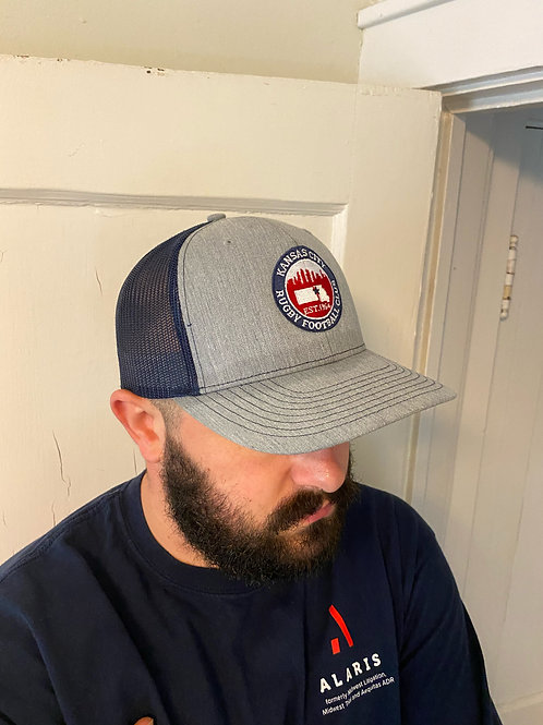 Baseball Hat - Grey Bill & Embroidered Logo