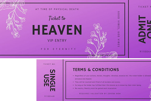 Ticket to Heaven- Purple