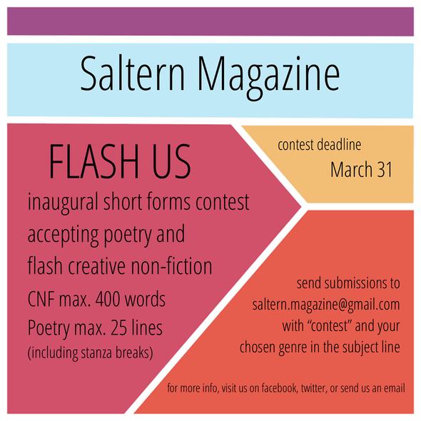 FLASH US: SALTERN MAGAZINE INAUGURAL SHORT FORMS CONTEST!