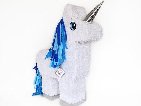 Einhorn-Piñata in Blautöne