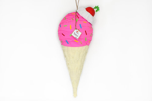 Erdbeere Eiswaffel-Piñata