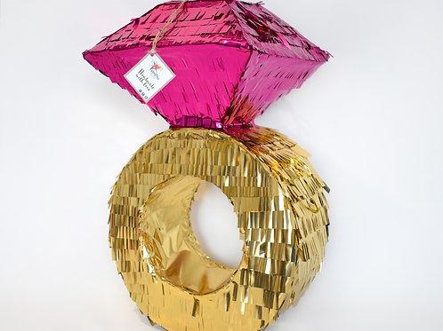 """Piñata """"Diamantring"""" in Metallic Pink"""