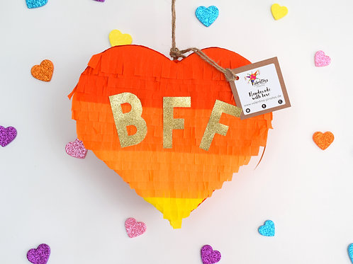 "Mini Herz Piñata ""BFF"""