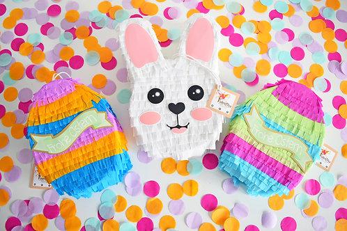 Mini Oster-Set Piñata / Hase Pinata / Osterhase Osterei Pinata
