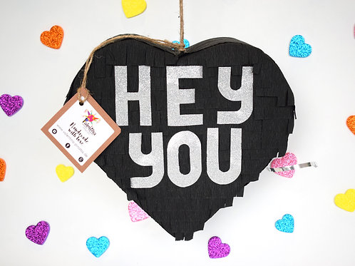 "Mini Herz Piñata ""Hey you"""