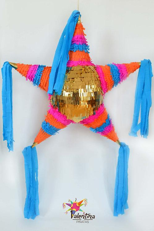 """LARGE- Blumige Stern-Piñata mit 5 Spitzen """"Boho Chic"""""""