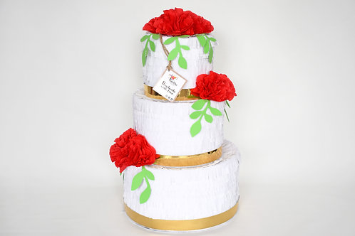 "Wedding Cake-Piñata ""Rot"""