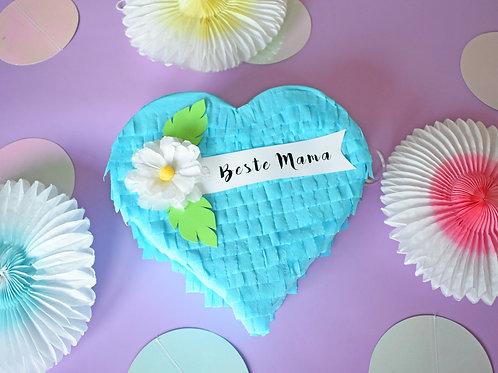 "Mini Herz Piñata ""Beste Mama"""