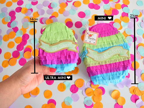 Ultra Mini Osterei Piñata pink/blau/grün  / Osterei Piñata
