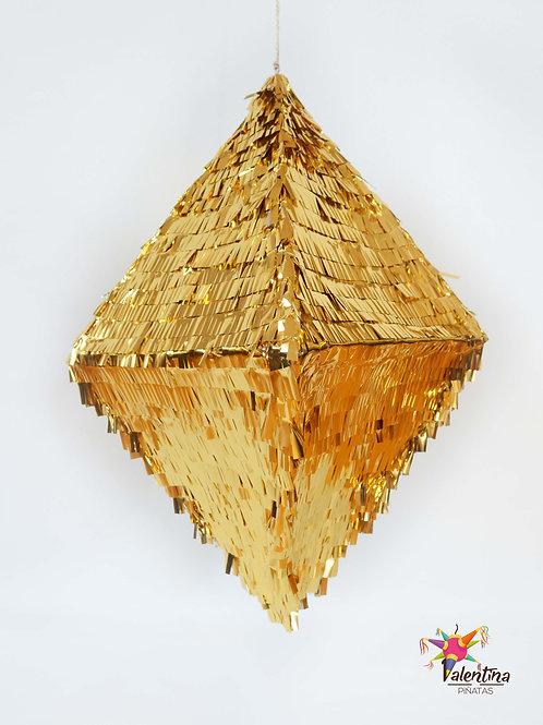 """Piñata """"Raute-Diamant"""" in Gold"""