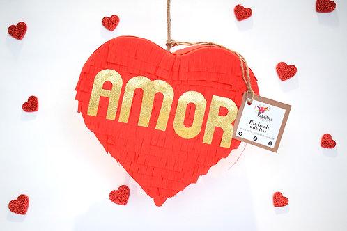 "Mini Herz Piñata ""Amor"""
