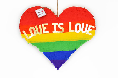 Love is Love Heart-Piñata - TEXT INDIVIDUALISIERBAR