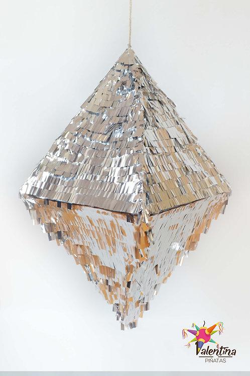 "Piñata ""Raute-Diamant"" in Silber"
