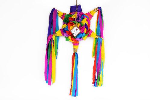 "MINI- Blumige Stern-Piñata mit 5 Spitzen ""Bunt"""