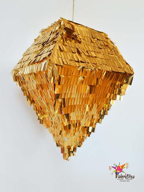Diamant-Piñata in Gold