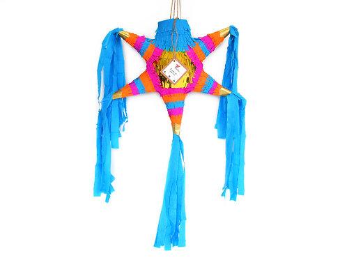 "MINI- Blumige Stern-Piñata mit 5 Spitzen ""Boho Chic"""
