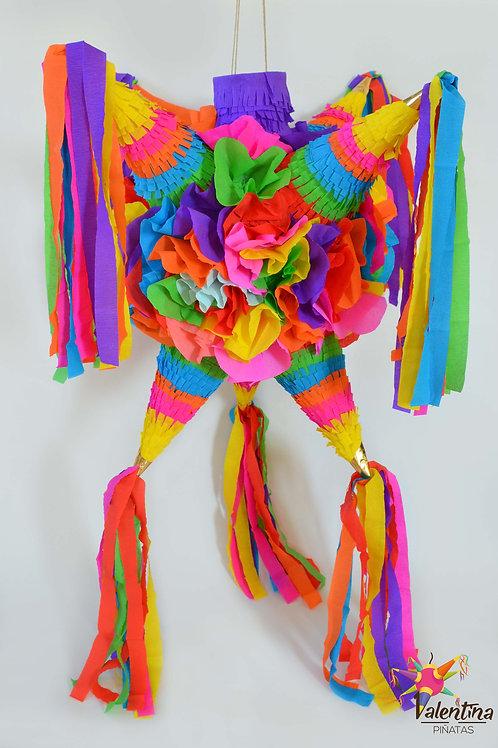 """LARGE- Blumige Stern-Piñata mit 7 Spitzen """"Bunt"""""""