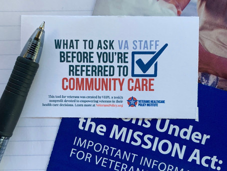 Nine Questions Veterans Need to Ask Before They're Referred to VA Community Care