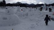 山北の雪まつりスノーマン!