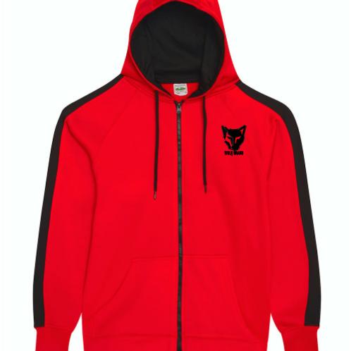 WOLFBRAND Zip Hoodie (Red/BLK)