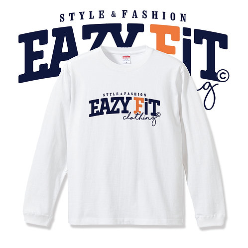 EAZYFiTロゴロングスリーブTシャツ