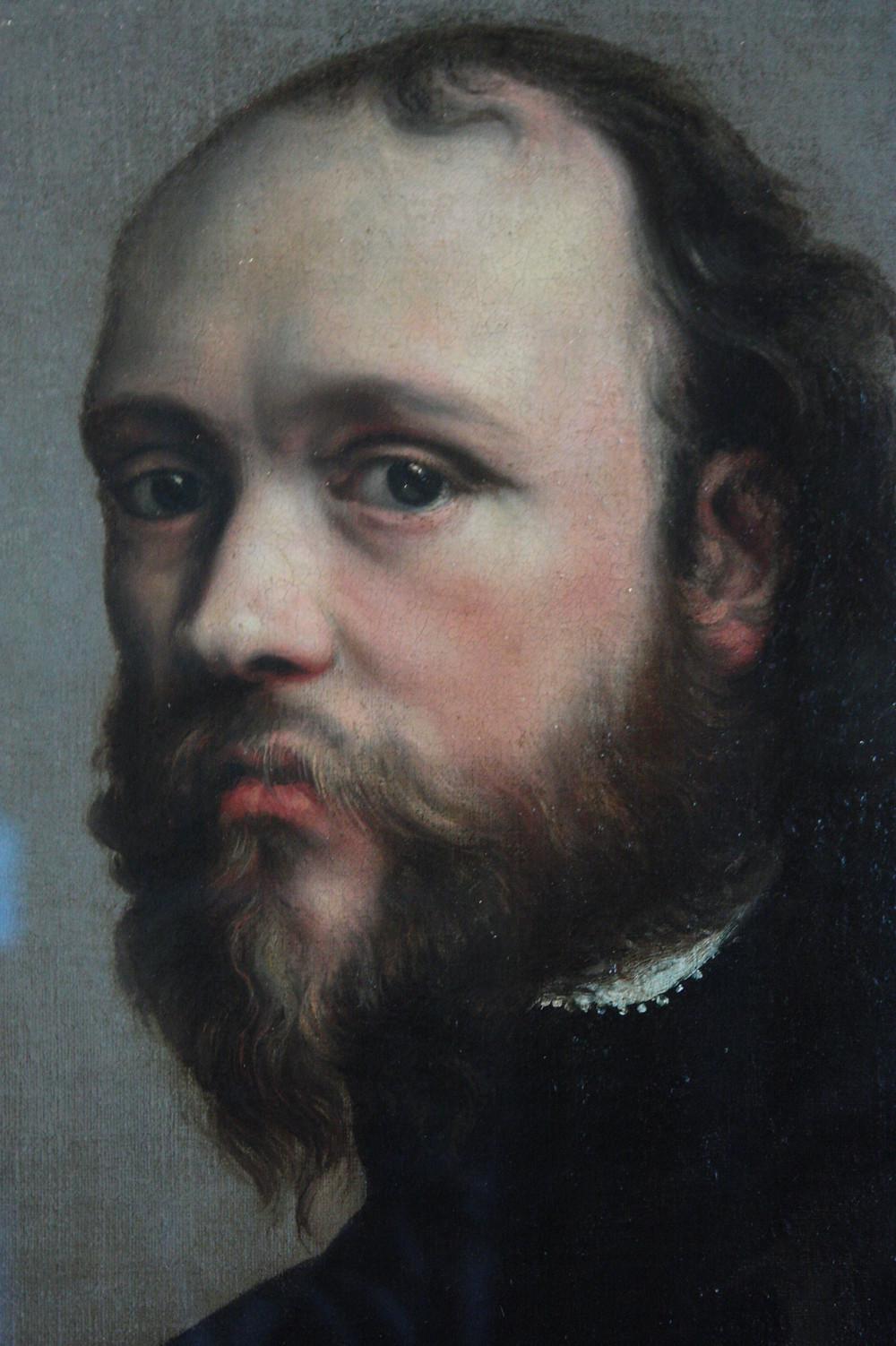 Portrait de l'inventeur de la bouteille de champagne, en peinture