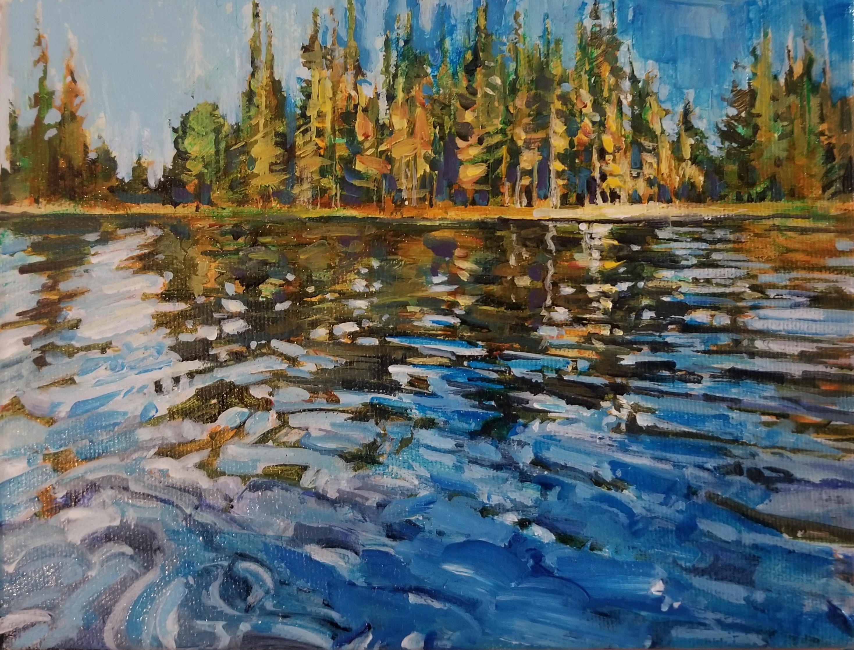 "Pinehurst Lake 6""x8"""