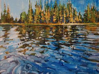 """Pinehurst Lake 6""""x8"""" SOLD"""