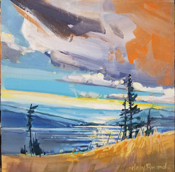 "SOLD ""Shoreline View"" available thorugh the Lloyd Gallery 12""x24"""
