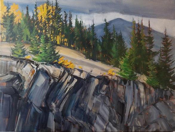 "Cliffside in the Rockies $760.00 18""x24"""