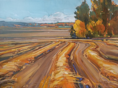 """Into the Fields 12""""x16"""" $525.00"""
