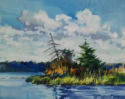 Grassy Shores 8x10 $145.00 canvas panel