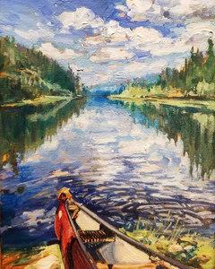 "Canoe #2 10""x8"" SOLD"