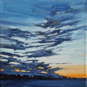 """SOLD Glory in the Heavens 6""""x6"""" $100"""