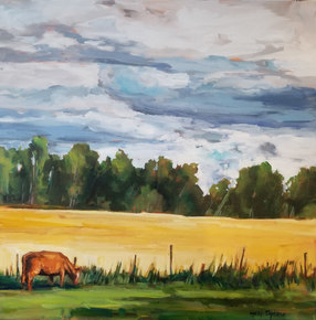 "Away from the Herd $1000.00 24""x24"""
