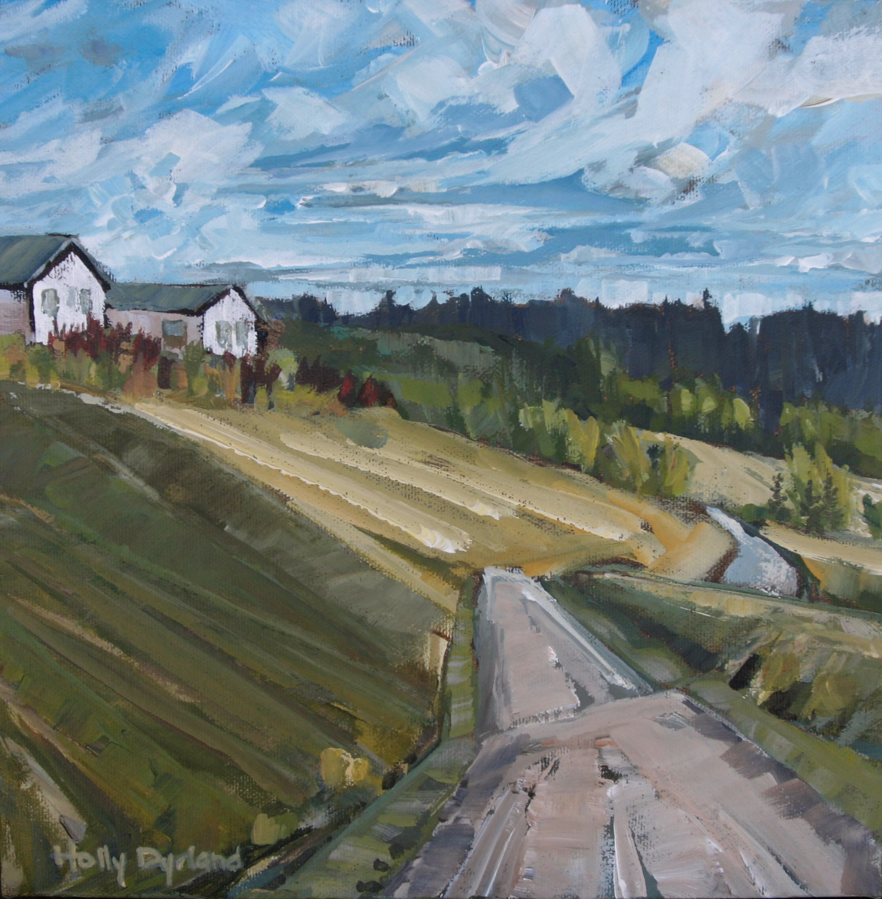Along the Valley - study