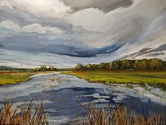 "Prairie Wetlands 36"" x 48"" Gibson Fine Art"