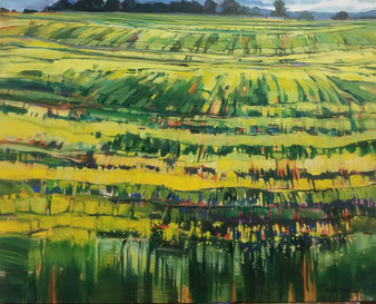 "Ribbons of Canola 24"" x 30"" Gibson Fine Art"